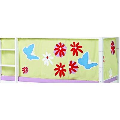 Hoppekids Vorhang in Butterfly für 200cm x 90cm halbhohes Bett