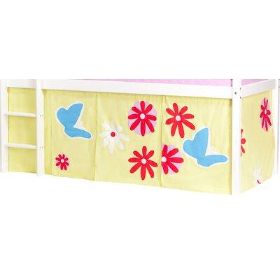 Hoppekids Vorhang in Butterfly für 200cm x 90cm mittelhohes Bett