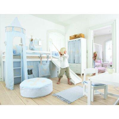 Hoppekids Vorhang in Fairytale Knight für 200cm x 90cm mittelhohes Bett