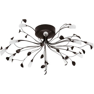 Brilliant Silvana 12 Light Semi-Flush Ceiling Light