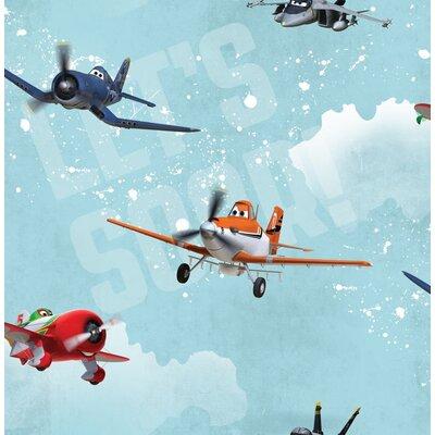 Disney Planes 10m L x 52cm W Roll Wallpaper