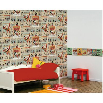 Disney Mickey Vintage Episode 10m L x 52cm W Roll Wallpaper