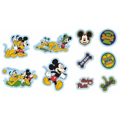 Disney 10 Piece Mickey Mini Foam Elements Wall Sticker Set