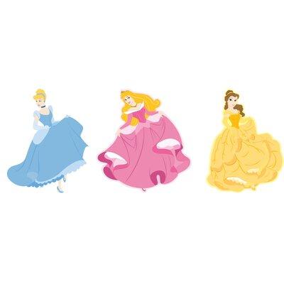 Disney Princess 3 Piece Foam Elements Wall Sticker Set