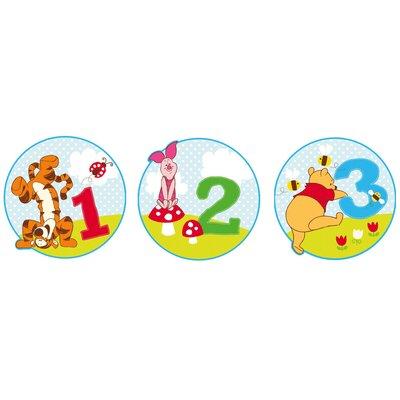 Disney 3 Piece Pooh Bother Free Day Foam Elements Wall Sticker Set