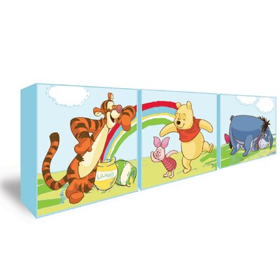 Disney Winnie The Pooh 3 Piece Graphic Art Wrapped on Canvas Set