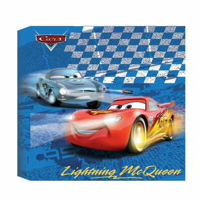 Disney Cars Vintage Advertisement Wrapped on Canvas