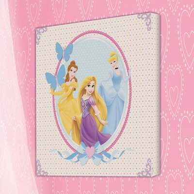 Disney Princess Graphic Art Wrapped on Canvas