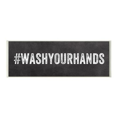 Wash your hands hashtag bathroom wall plaque wayfair for Bathroom decor hashtags