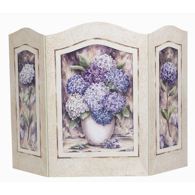 Shabby Elegance Hydrangea 3 Panel Fireplace Screen