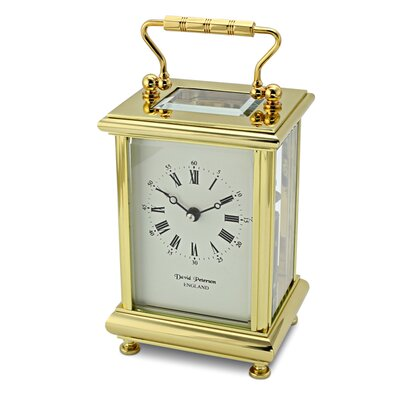 David Peterson Ltd Boite Carriage Mantel Clock