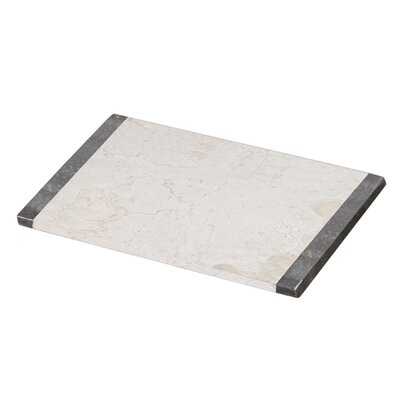 The Byzantine Two Tone Marble Pastry Board in Charcoal / Champagne