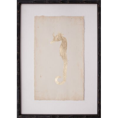Mirror Image Home Leaf Seahorse I Framed Graphic Art