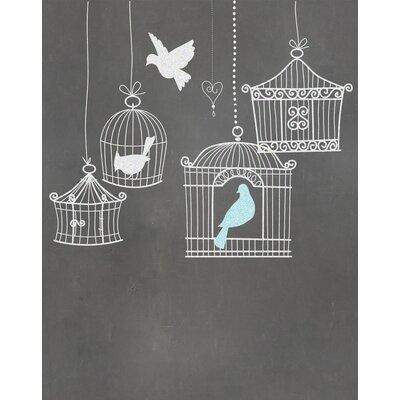 """Birdcages Graphic Art Paper Print Size: 10"""" H x 8"""" W x 0.05"""" D"""
