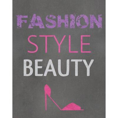 """Fashion Style Beauty Textual Art Paper Print Size: 10"""" H x 8"""" W x 0.05"""" D"""