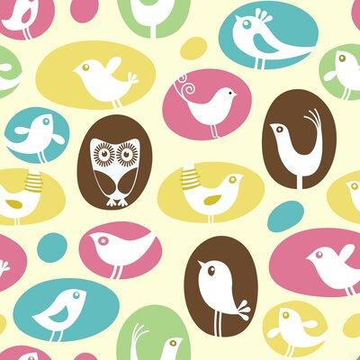 "Brids, Birds, Birds Paper Print Size: 10"" H x 8"" W x 0.25"" D"