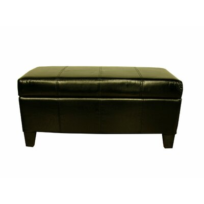 Borchardt Upholstered Storage Bench Color: Black
