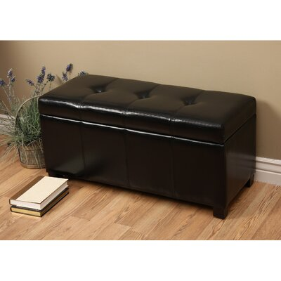 Ariel Upholstered Storage Bedroom Bench Color: Black