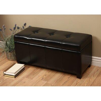 Borchardt Upholstered Storage Bench Color: Black