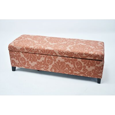 Donahue Flower Upholstered Storage Bench