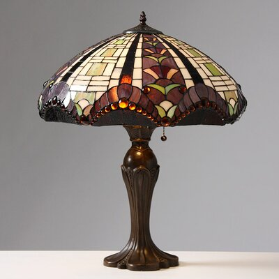 """Warehouse of Tiffany Gothique Manor 27"""" H Table Lamp with Bowl Shade"""