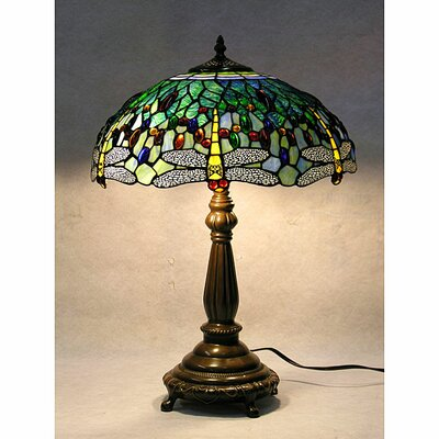 Warehouse of Tiffany Dragonfly Table Lamp with Bowl Shade