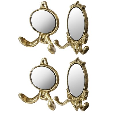 Chittenden Mirrored 2 Piece Wall Hook Set