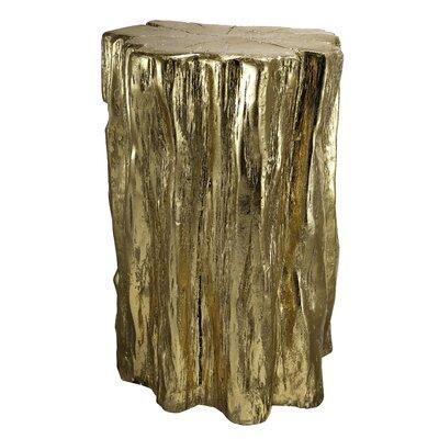Degelia Golden Tree Trunk Accent Stool