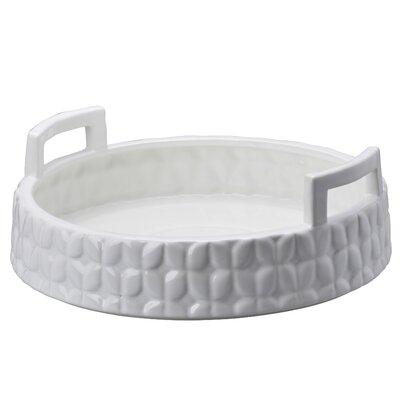Floral Round Ceramic Basket