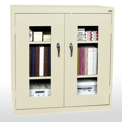 Clear View 2 Door Storage Cabinet Color: Putty
