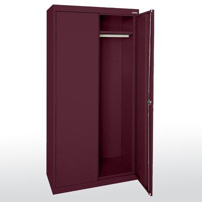 """Elite Series 78""""H x 36""""W x 24""""D 2 Door Storage Cabinet Color: Burgundy"""
