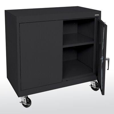 Transport 2 Door Storage Cabinet Color: Black