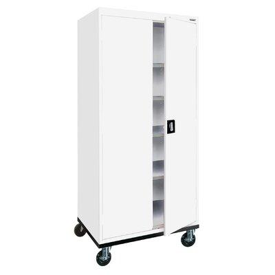 Transport 2 Door Storage Cabinet Finish: White