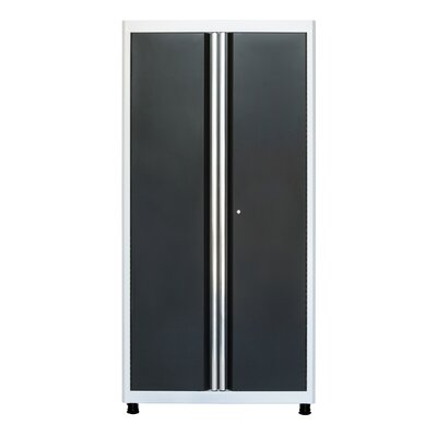 "72"" H x 36"" W x 18"" D Storage Cabinet Finish: White/Charcoal"