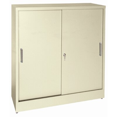 Sliding 2 Door Storage Cabinet Color: Putty