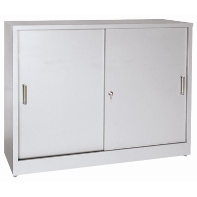 Sliding 2 Door Storage Cabinet Color: Dove Gray