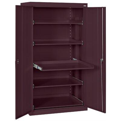 2 Door Storage Cabinet Color: Burgundy