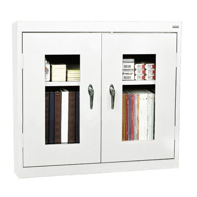 Clear View 2 Door Storage Cabinet Finish: White