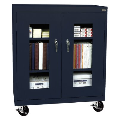 Transport 2 Door Storage Cabinet Finish: Navy Blue