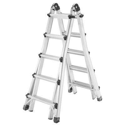 Hailo UK Ltd MTL 1.23m Aluminum Multi-Position ladder with Class EN131 (Professional) 159 kg