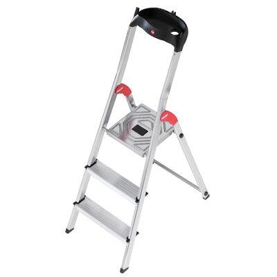 Hailo UK Ltd EasyClix 4-step Aluminum Step Stool with Class EN131 (Professional) 159 kg
