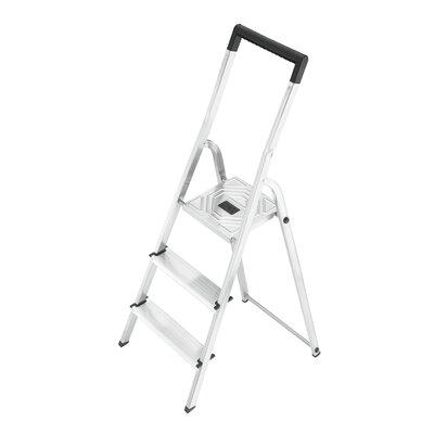 Hailo UK Ltd EasyClix 3-step Aluminum Step Stool with Class EN131 (Professional) 159 kg