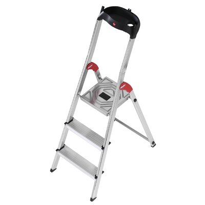 Hailo UK Ltd 3-Step Aluminium Step Stool with Class EN131 (Professional) 159kg