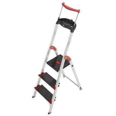 Hailo UK Ltd XXR 225 ChampionsLine 3-step Aluminum Step Stool with Class I (Industrial) 175 kg