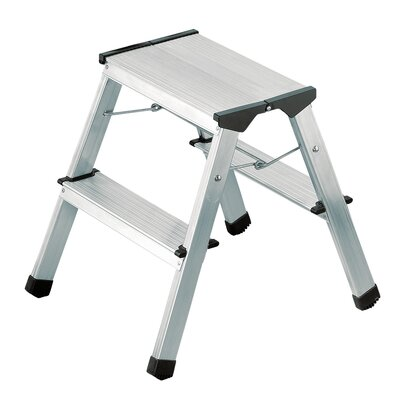 Hailo UK Ltd L 90 0.47m Aluminum Step ladder with Class EN131 (Professional) 159 kg
