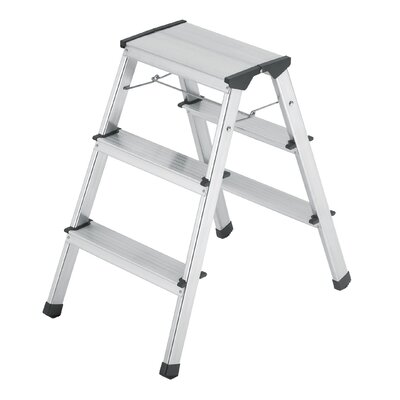 Hailo UK Ltd L 90 0.68m Aluminium Step Ladder with Class EN131 (Professional) 159kg