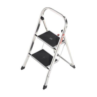 Hailo UK Ltd 2-step Aluminum Step Stool with Class EN131 (Professional) 159 kg