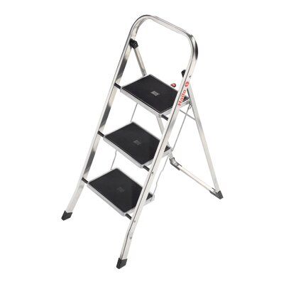 Hailo UK Ltd 3-Step Aluminium Step Stool with Class EN131 (Professional) 159kg