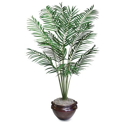 Lifelike Palm Tree in Decorative Vase