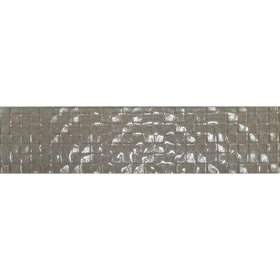 "Cubale 3"" x 12"" Glass Mosaic Tile in Summer Wheat"